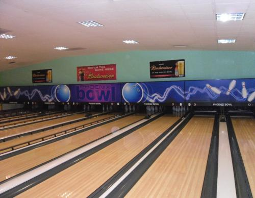 Phoenix Bowl boasts a ten lane bowling alley.